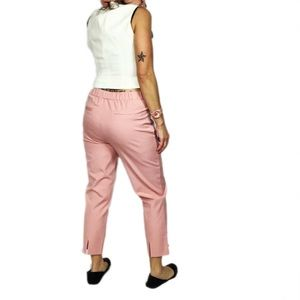 Isaac Mizrahi Stretch Crop Pants in Bridal Blush